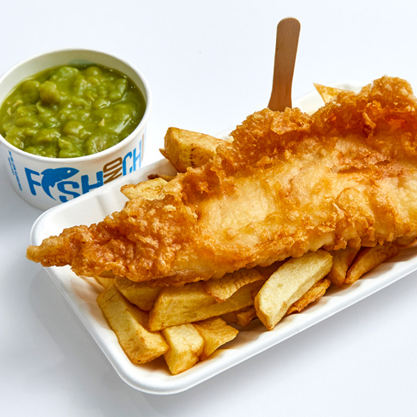 Towngate Fisheries fish and chips with peas