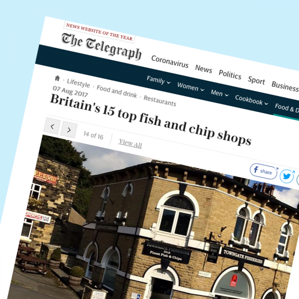 Towngate Fisheries article in The Telegraph