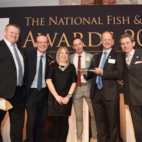 Towngate Fisheries receiving their National Fish and Chip Awards