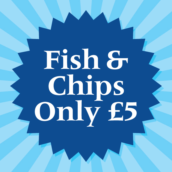 Fish and Chips only £5 on selected days in March